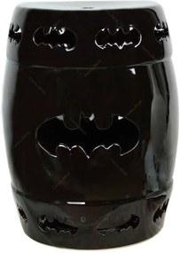 Garden Seat DC Comics Batman Preto em Cerâmica - Urban - 46x33 cm