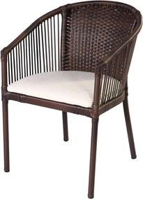 Cadeira Lídia Estofada em Alumínio Revestida C/ Fibra Sintética