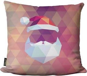 Capa para Almofada Mdecore Natal Geométrico Colorido -45x45cm