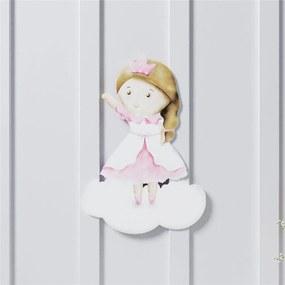 Adesivo Parede Amiguinha Princesa 26cm Grão de Gente Rosa