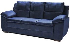 Sofá Com Fibra No Encosto Apogeu 3 Lugares Tecido Suede Azul - Umaflex