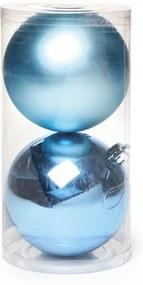 Bola De Natal Pendurar Árvore Natal Azul Claro 2 Peças 10Cm