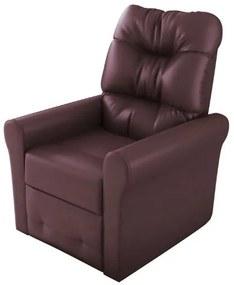 Poltrona do papai reclinável Clio -  Marrom corino