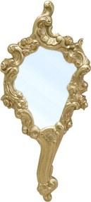 Espelho de Mão Princesa em Resina e Pintura Dourada