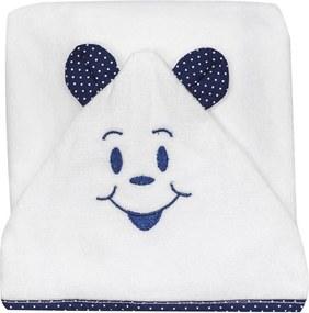 Toalha de Banho Cuca Criativa Felpa Macia com Fralda Azul-Marinho
