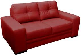 Sofá 2 Lugares Sala de Estar Milano 170cm Couro Vermelho - Gran Belo