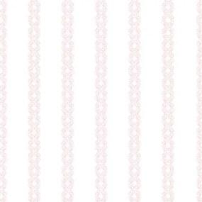 Papel De Parede Bobinex Renascer Listrado Rosa Borboleta 6218