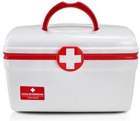 Caixa de Remédios (G) Jacki Design Organizadores Vermelho