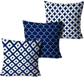 Kit 3 Almofadas Love Decor Decorativas Multi Geometric Multicolorido