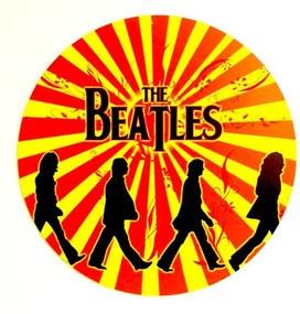 Placa Beatles Retro Orange Redonda