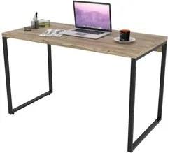 Mesa de Escritório Office 120cm Estilo Industrial Prisma C08 Carvalho