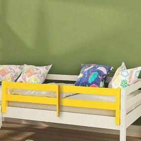 Grade de Proteção II para Cama Infantil Madeira Maciça - Laca Amarelo