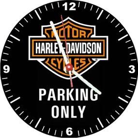 Relógio Decorativo Harley Davidson Parking Only