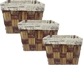 Jogo Kasa Ideia com 3 Cestos Quadrados Paris