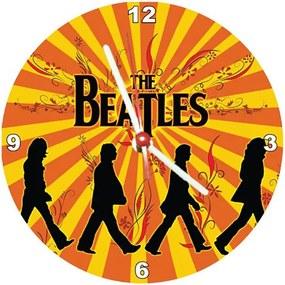 Relógio Decorativo Beatles Retrô Orange