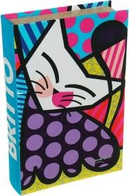 Book Box Fluffy Friends - Romero Britto - em MDF - 33x22 cm