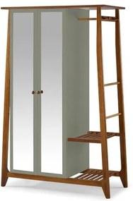 Armario Multiuso Stoka 2 Portas Cinza Estrutura Amendoa 169cm - 60964 Sun House