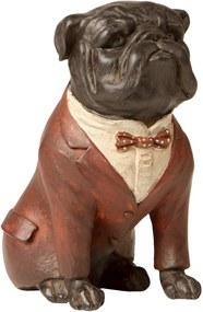 Estatueta Cachorro Paletó Vermelho - 16cm