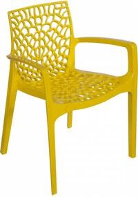 Cadeira  Gruvyer  Com Braço  PP Amarela Or Design