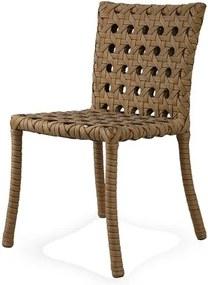 Cadeira Lone Estrutura Aluminio Revestido em Fibra Sintetica cor Madeira - 44544 Sun House