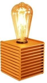 Luminária Abajur Box Retrô de Madeira Caramelo- Soq: E27 / Tam: 10x10cm
