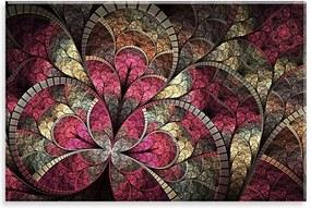 Tela Love Decor Decorativa em Canvas Vitral Rubi Multicolorido 90x60cm