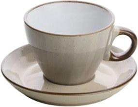 Conjunto 4 Xícaras Porcelana Para Chá Com Pires Branco 200ml