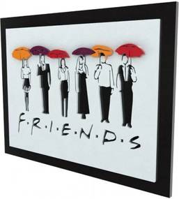 Quadro 3D Seriado Friends Personagens FBA