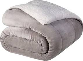 Cobertor Queen Lepper -Coberdrom Dupla Face Liso Prisma Cinza