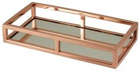 Bandeja Inox Com Espelho Rose Gold 30x15x5cm 60624 Royal
