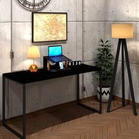 Mesa Para Escritório Diretor Estilo Industrial  Vintage | Tam: 150x60|Cor: Preto