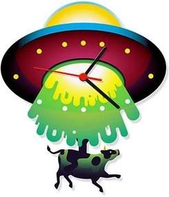 Relógio de Parede Pêndulo Disco Voador - Abdução