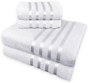 Jogo de Toalha 4 Peças kit de toalhas 2 banho 2 rosto Jogo de Banho Branca