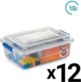 Caixa Alimento Organizadora Restaurante Plástico 10L 12un