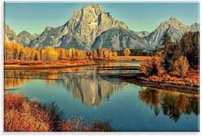 Tela Decorativa em Canvas Wevans  Montanhas 90x60cm Multicolorido