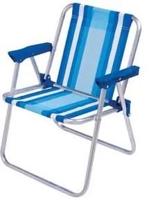 Cadeira Alumínio Mor Infantil Alta Azul