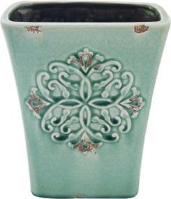 Cachepot em Cerâmica Verde - 24x20cm