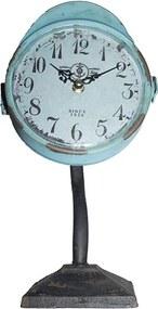 Relógio de Mesa de Ferro Azul Envelhecido