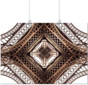 Pôster Casa Da Mãe Joana Sépia Torre Eiffel Marrom