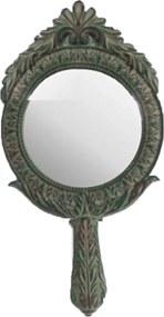 Espelho Decorativo Redondo com Pintura Envelhecida