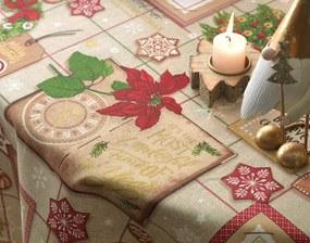 Toalha de Mesa de Natal Karsten Tempo de Decorar - Tamanho: Quadrada - 78 X 78 cm - Karsten