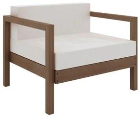 Sofá Componível Lazy 1 Lugar com Almofada - Wood Prime MR 44000