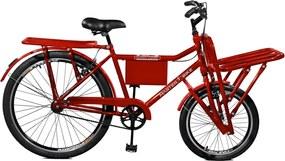 Bicicleta Master Bike Aro 26 F/M Super Cargo Vermelho