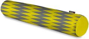 Rolo Decorativo Pump UP Chevron Amarelo e Cinza Grande 128x12 cm