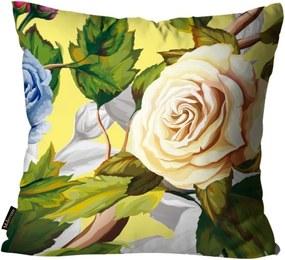 Almofada Premium Cetim Mdecore Floral Colorida 45x45cm