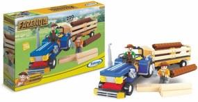 Blocos de Encaixe Xalingo Fazenda Transporte - 220 peças - Multicolorido - 4109 - Bege