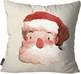 Capa para Almofada Mdecor De Natal Papai Bege