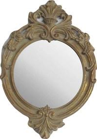 Espelho Moldura Clássica Oval Dourado Envelhecido - 50x5x35cm