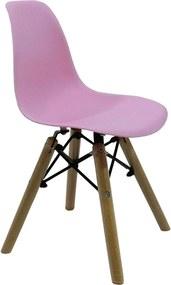 Cadeira Dkr Wood Kids Charles Eames Rosa Byartdesign