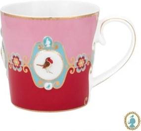 Caneca Grande Medallion Rosa e Vermelho Love Birds Pip Studio